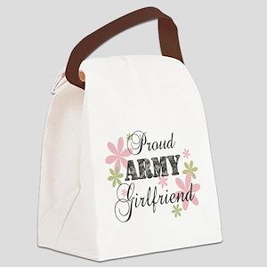 Army Girlfriend [fl camo] Canvas Lunch Bag